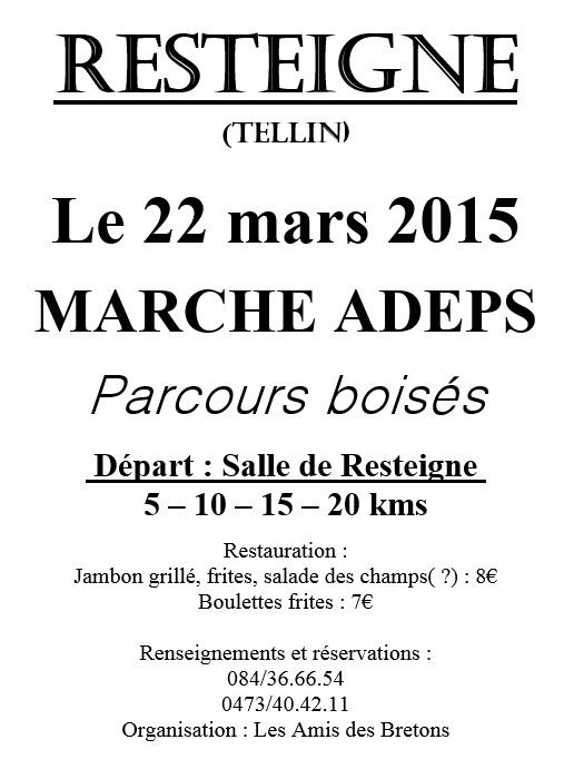 Resteigne : Marche ADEPS